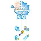 Подвеска С Днем Рождения Малыш голубая