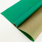 Крафт - Бумага верджтрованная однотонная Травяная (Зеленая) / рулон