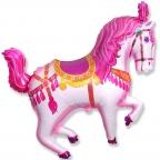 Лошадь цирковая фуксия