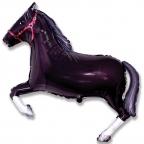 Лошадь черная