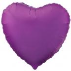 """Р Сердце 18""""/46см Фиолетовый"""