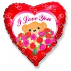 Сердце / Мишка с розами