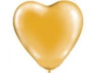 Сердце Металлик Золото