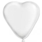 Сердце Металлик Белое