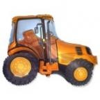 Трактор оранжевый