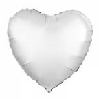 "Р Сердце 18""/46см Белый жемчужный Сатин"
